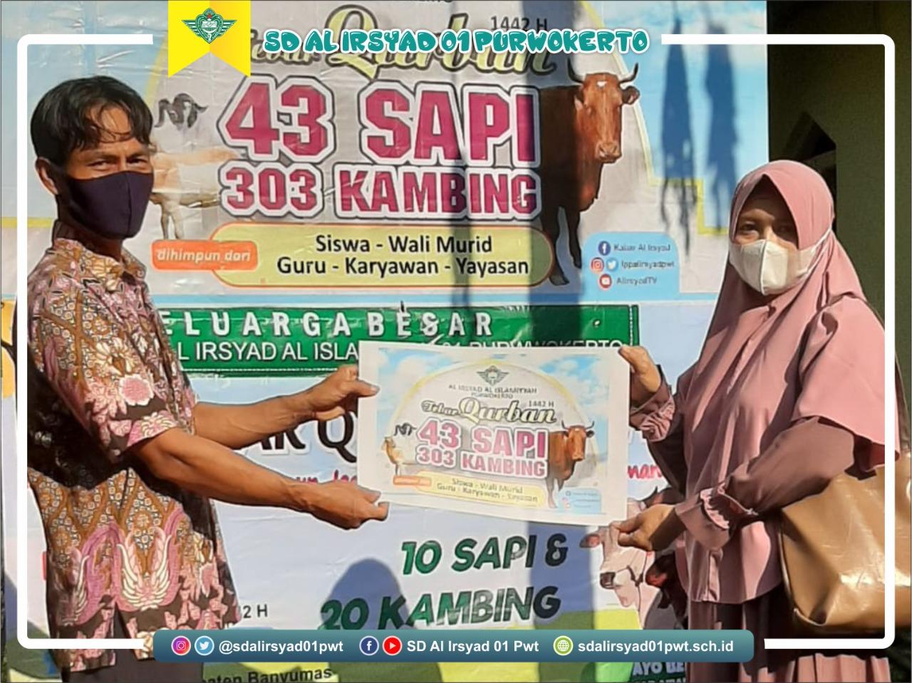 Puluhan Hewan kurban ditebar di Banyumas, Dari SD Al Irsyad Al Islamiyyah 01 Purwokerto untuk masyarakat Banyumas.